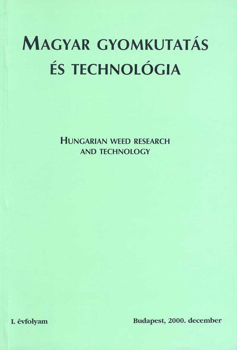 Magyar Gyomkutatás és Technológia 1/1 címlap