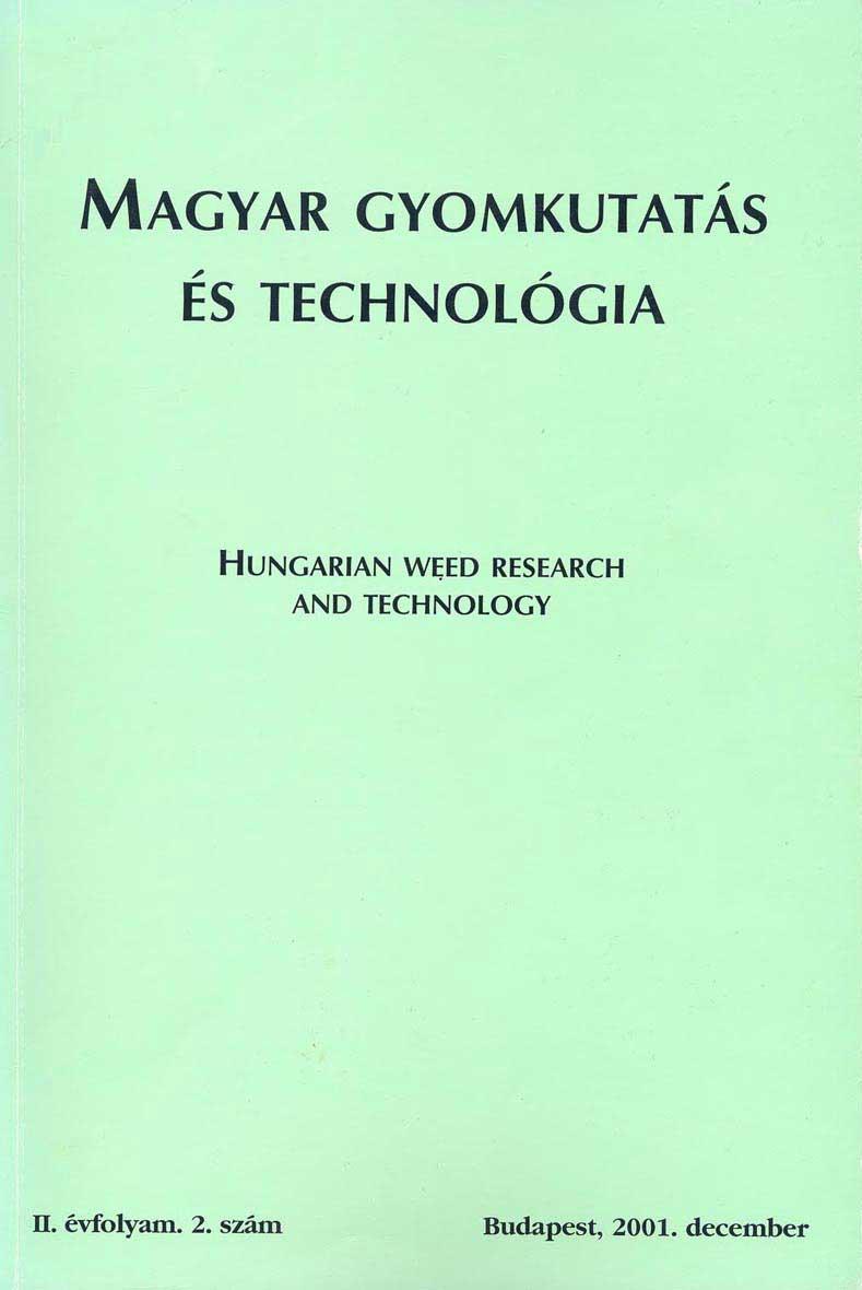 Magyar Gyomkutatás és Technológia 2/2 címlap