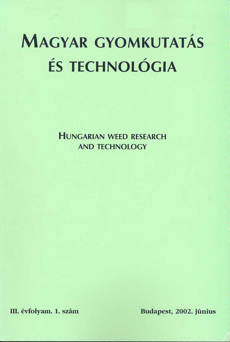 Magyar Gyomkutatás és Technológia 3/1 címlap