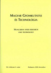 Magyar Gyomkutatás és Technológia 11/2 címlap