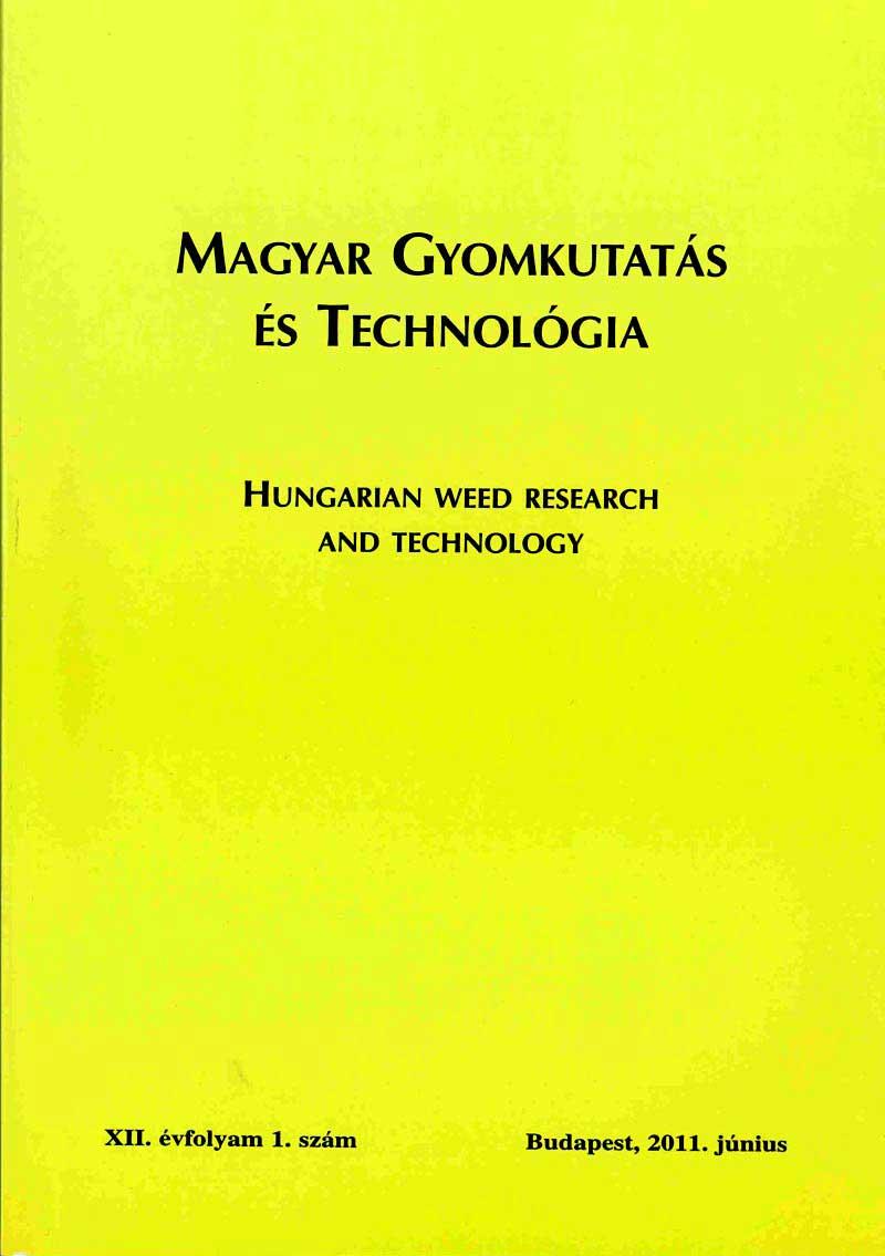 Magyar Gyomkutatás és Technológia 12/1 címlap