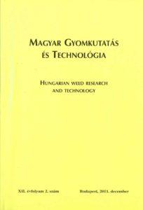 Magyar Gyomkutatás és Technológia 12/2 címlap