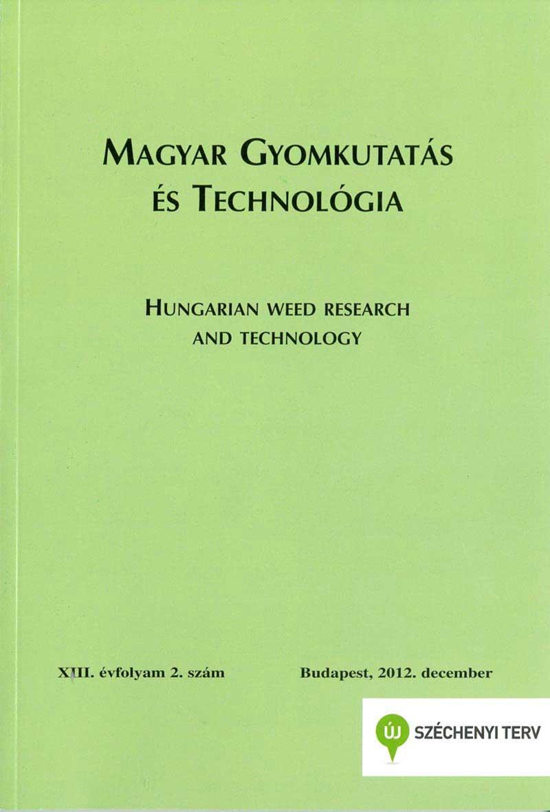 Magyar Gyomkutatás és Technológia 13/2 címlap