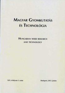 Magyar Gyomkutatás és Technológia 14/1 címlap