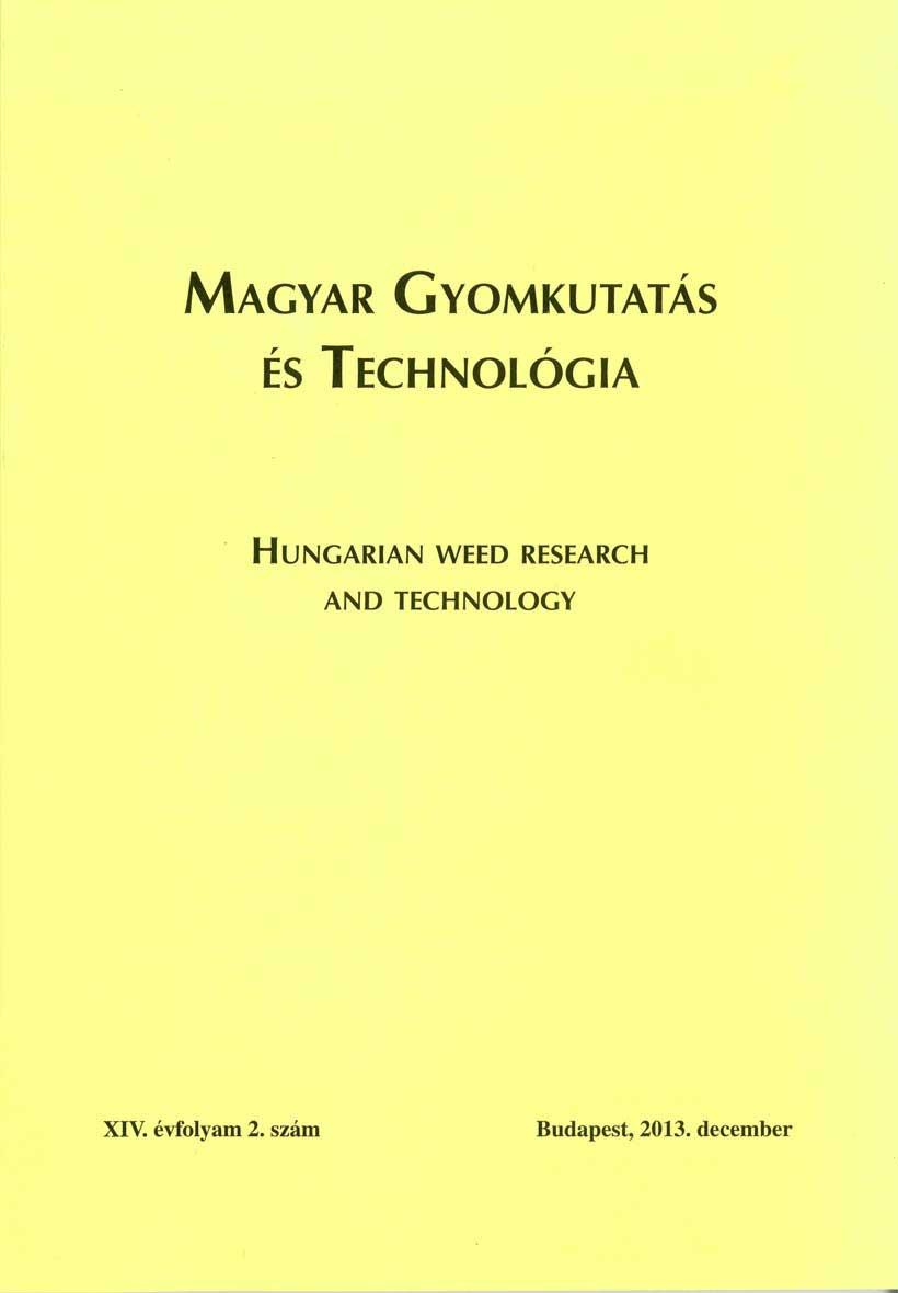 Magyar Gyomkutatás és Technológia 14/ 2 címlap