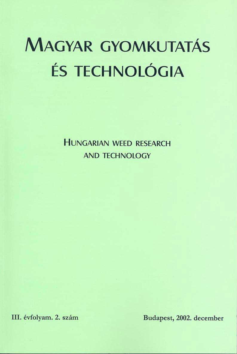 Magyar Gyomkutatás és Technológia 3/2 címlap