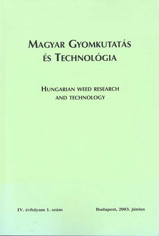 Magyar Gyomkutatás és Technológia 4/1 címlap