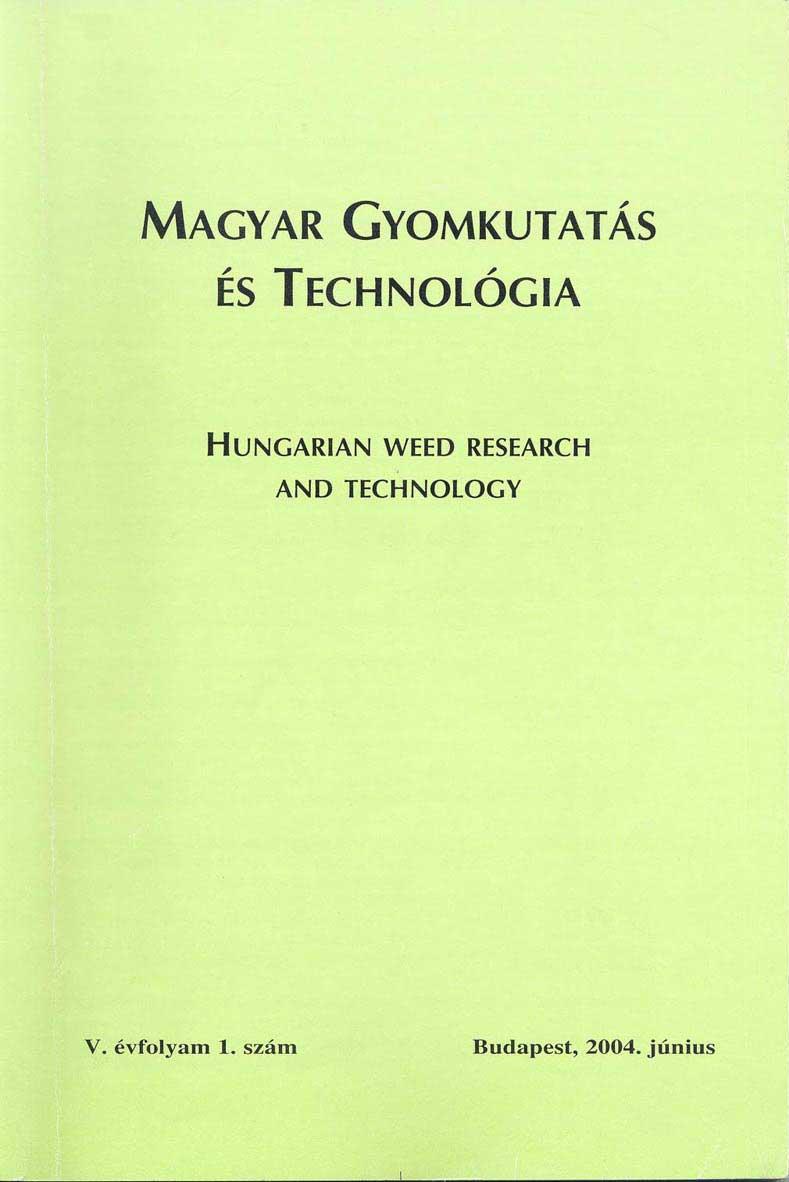 Magyar Gyomkutatás és Technológia 5/1 címlap