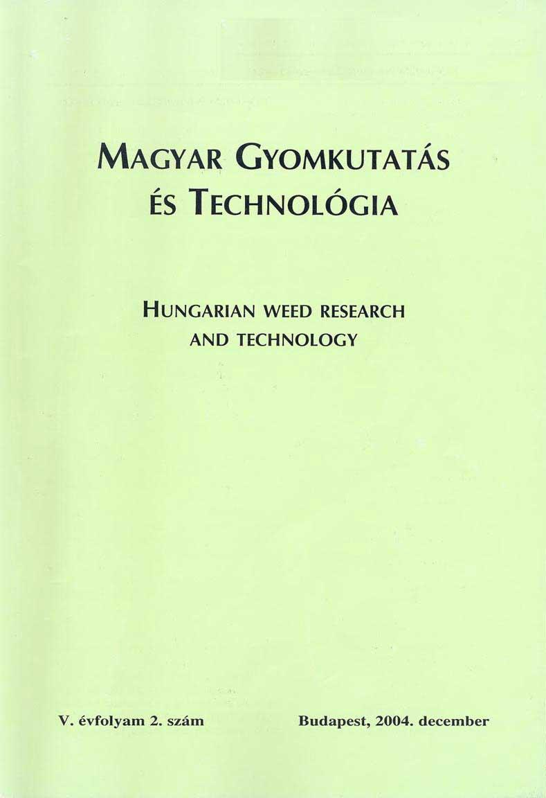 Magyar Gyomkutatás és Technológia 5/2 címlap